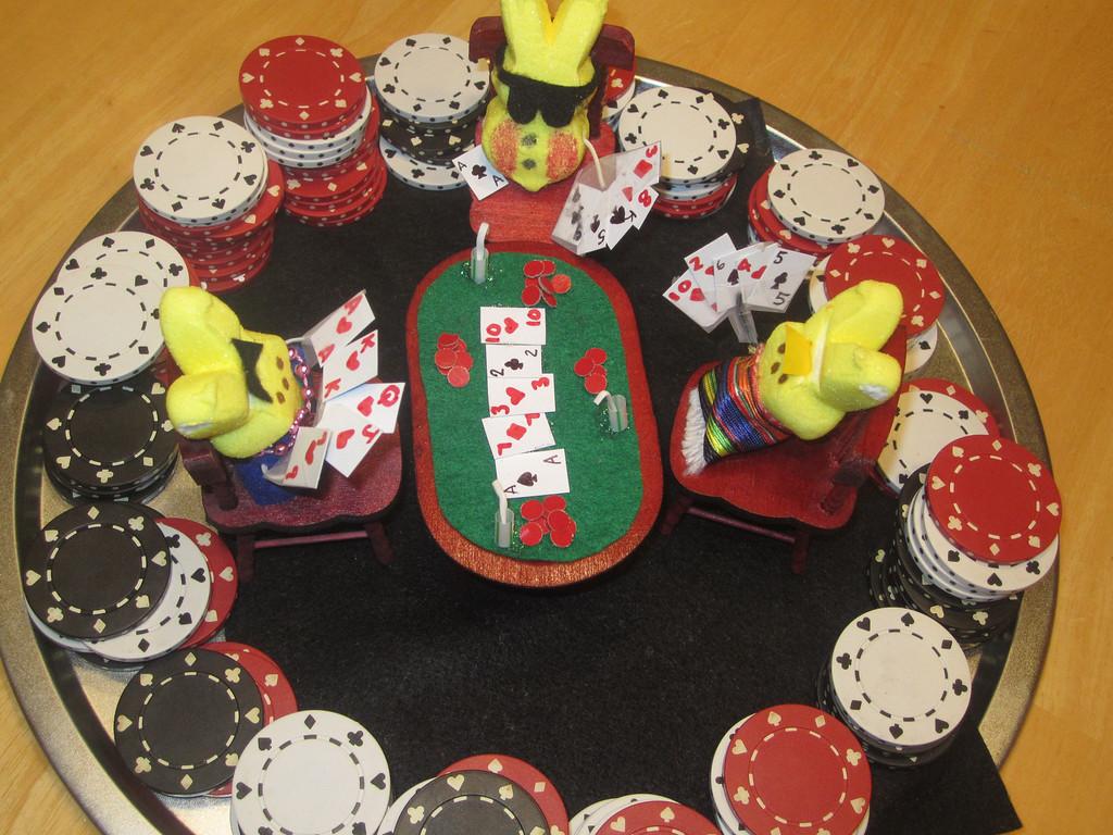 """. \""""Poker Peeps,\"""" by Angeline Anderson and Kelly Rassett, Oakdale"""