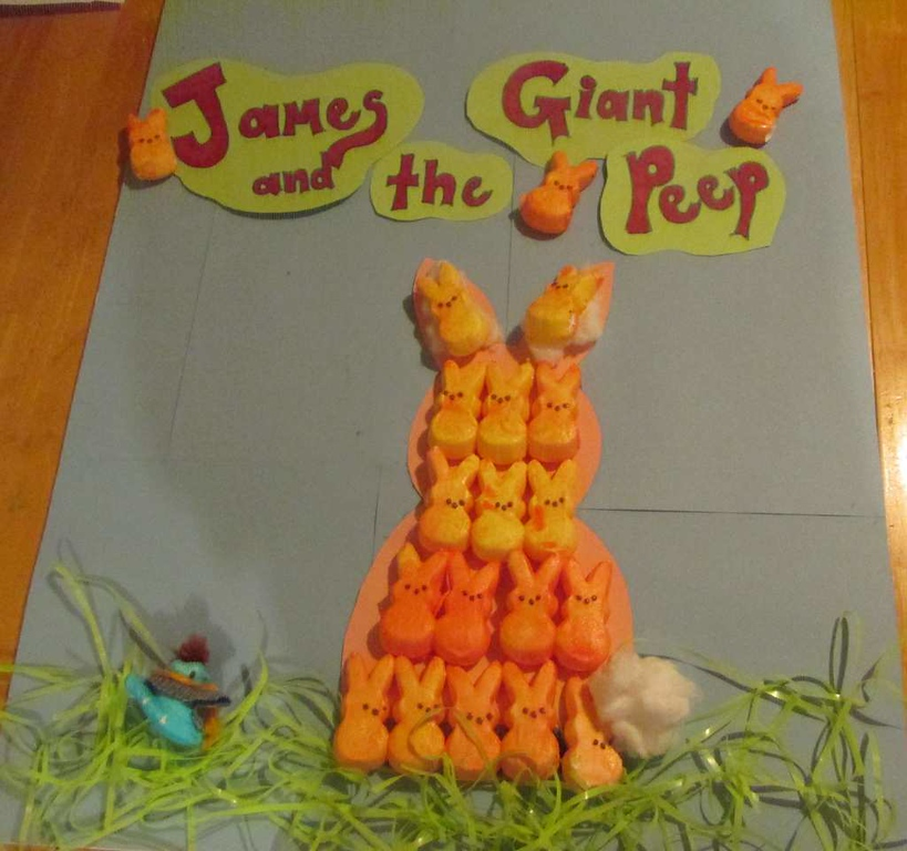 ". ""James and the Giant Peep,\"" by Rebecca McClure"
