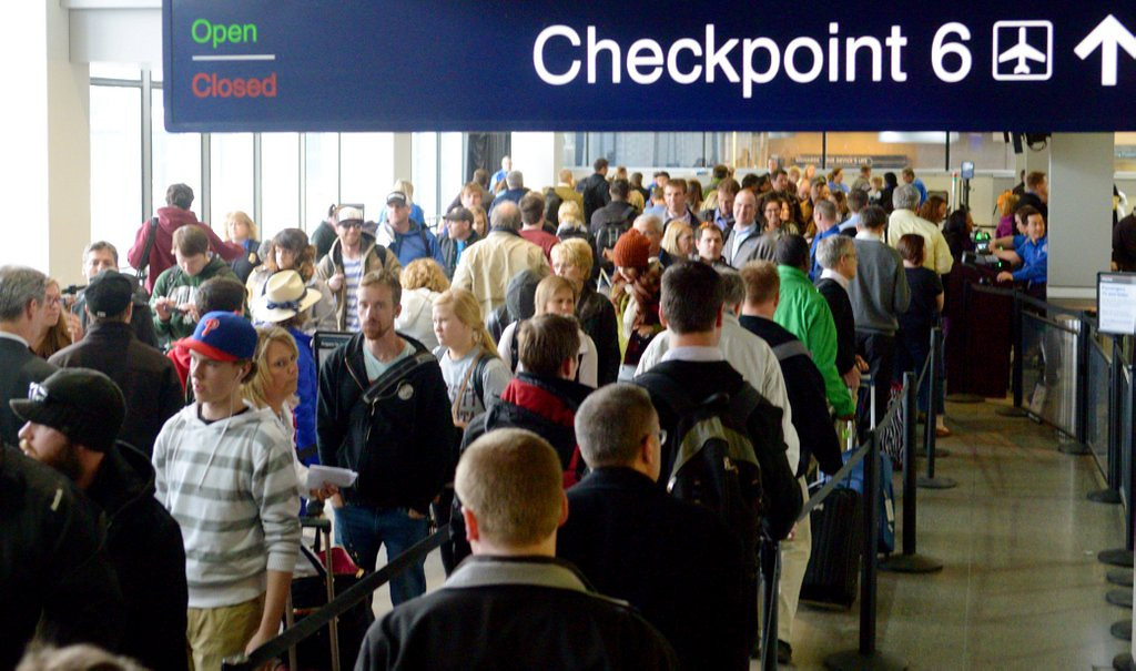 ". <p>7. MINNEAPOLIS-SAINT PAUL INTERNATIONAL AIRPORT <p>Is there a reason the TSA can�t add a few more crotch gropers to help speed things along? (2) <p><b><a href=\'http://www.twincities.com/travel/ci_25418489/msp-airport-officials-urge-passengers-arrive-earlier-flights\' target=""_blank\""> HUH?</a></b> <p>   (Pioneer Press: John Autey)"