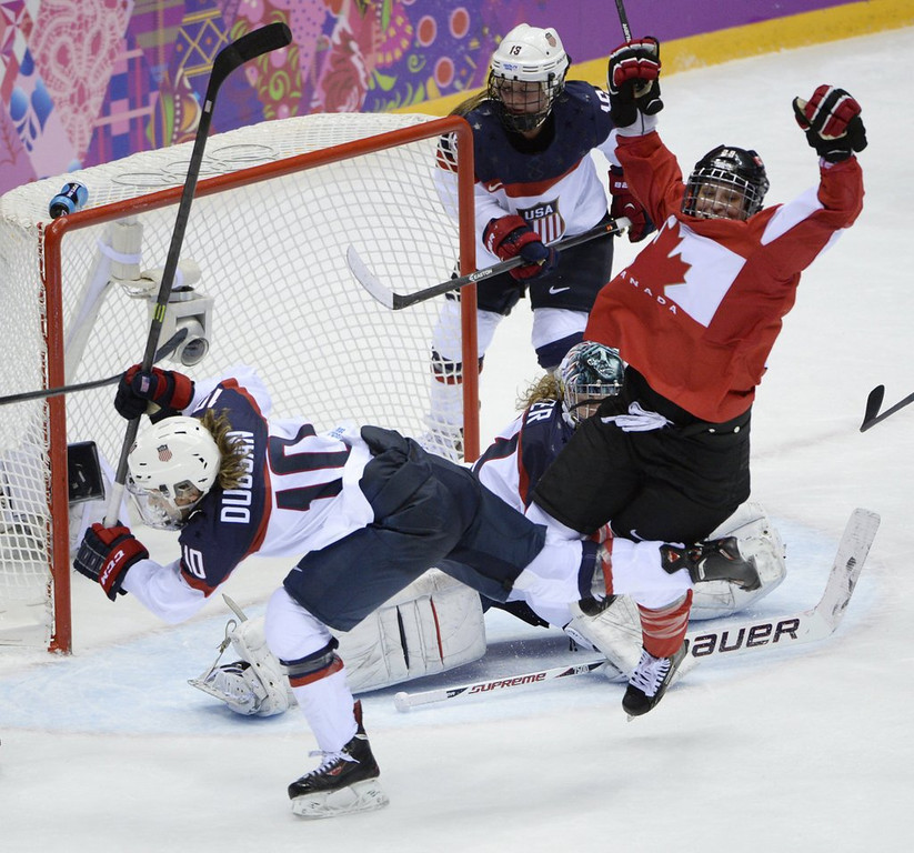 . <p><b>1. (tie) U.S. WOMEN�S HOCKEY TEAM </b> <p>�You�ll take it to your f****** graves! Your f****** graves!� <p>   (Mark Reis/Colorado Springs Gazette/MCT)