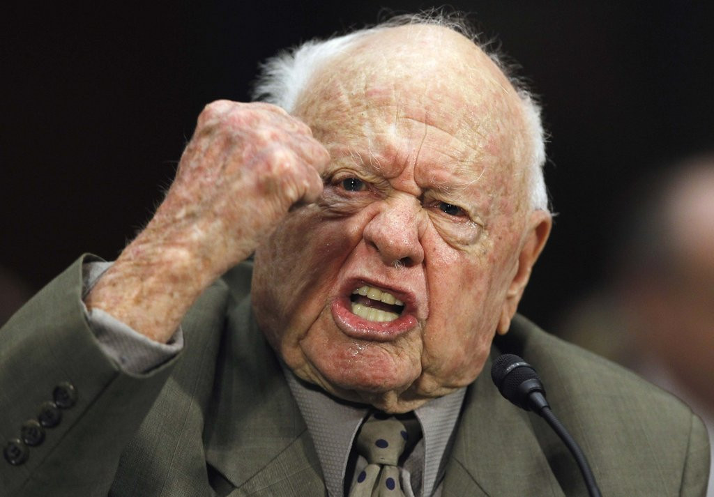 """. <p>6. (tie) MICKEY ROONEY <p>�I was the number one star in the world. BANG! ... THE WORLD!!!� (unranked) <p><b><a href=\'http://www.twincities.com/breakingnews/ci_25510418/legendary-star-mickey-rooney-has-died-at-age\' target=\""""_blank\""""> HUH?</a></b> <p>    (AP Photo/Alex Brandon, File)"""