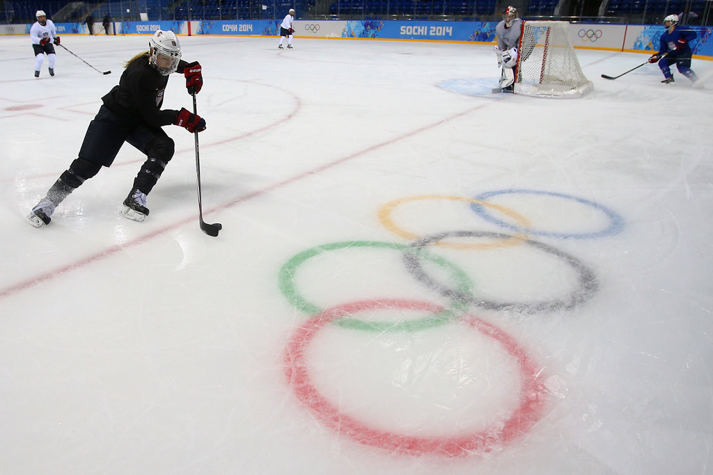. Gigi Marvin, 26, is the oldest of the former Minnesota players on U.S. women�s Olympic hockey team. She plays with the Boston Blades of the Canadian Women�s Hockey League.  (Getty Images: Bruce Bennett)