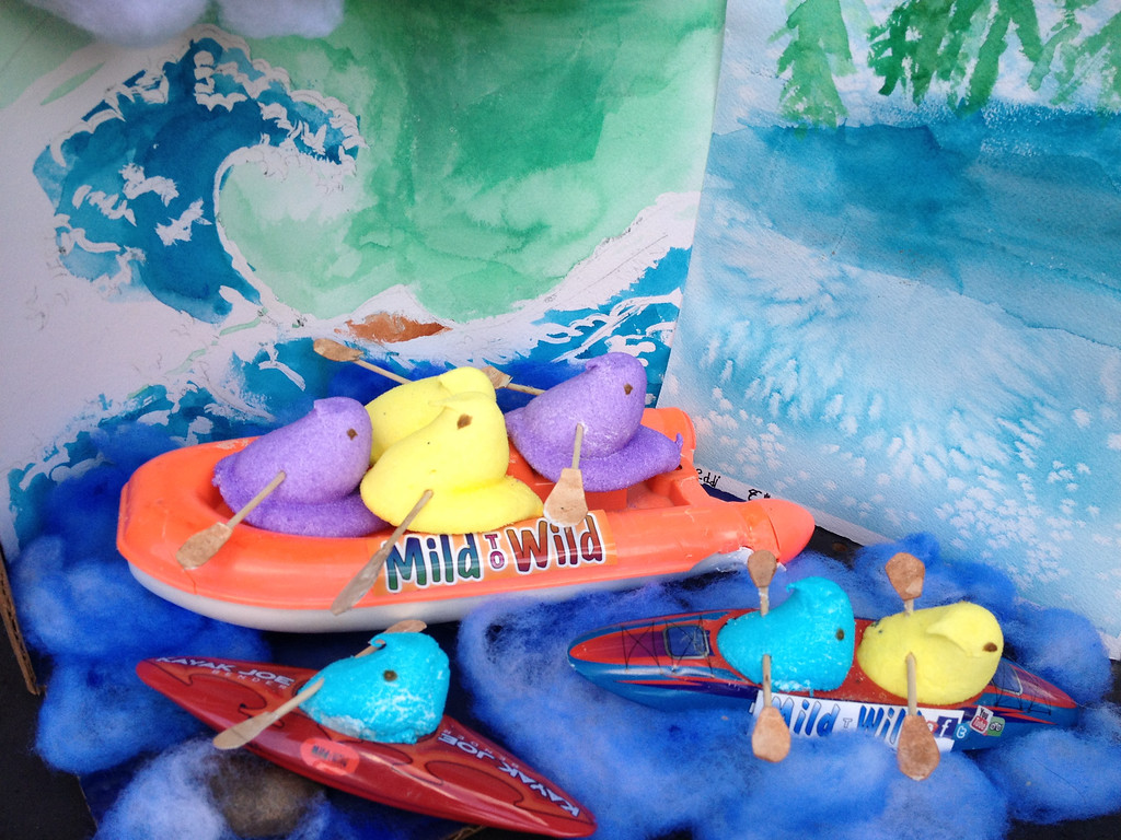 ". \""Peeps Go Whitewater Rafting and Kayaking,\"" by Liz Northrup, Woodbury"