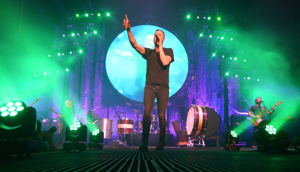 . Imagine Dragons perform during the bands \'Into The Night Tour\' stop at the Xcel Energy Center in St. Paul on Wednesday, March 12, 2014. (Pioneer Press: John Autey)