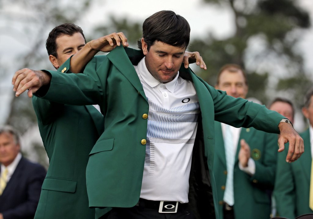 """. <p><b> Television ratings for the 2014 Masters were down substantially over the weekend, no doubt thanks to the absence of � </b> <p> A. Tiger Woods <p> B. Tiger Woods� fans <p> C. Tiger Woods� harem <p><b><a href=\'http://golfweek.com/news/2014/apr/15/masters-ratings-cbs-espn-drop-2014-bubba-watson/\' target=\""""_blank\"""">HUH?</a></b> <p>   <br> <p><b>ANSWERS</b> <p> The correct answer is always \""""A\"""" ... unless you feel very strongly otherwise. <p> <br><p><i> You can follow Kevin Cusick at <a href=\'http://twitter.com/theloopnow\'>twitter.com/theloopnow</a></i>    (AP Photo/David J. Phillip)"""