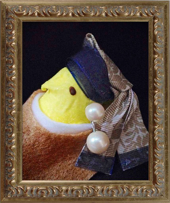 ". SECOND PLACE: ""Peep with a Pearl Earring,\"" by Jill Schaefer of Minnetonka"