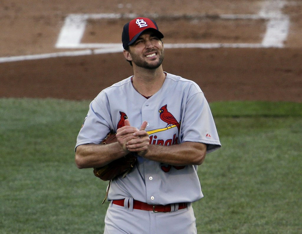 ". 2. (tie) ADAM WAINWRIGHT <p>World Series home-field advantage a small price to pay for the thrill of grooving Derek Jeter �a couple of pipe shots.� (unranked) </p><p><b><a href=""http://www.cbssports.com/mlb/eye-on-baseball/24622684/wainwright-suggests-he-grooved-pitch-to-derek-jeter-in-all-star-game\"" target=\""_blank\""> LINK </a></b> </p><p>    (AP Photo/Paul Sancya)</p>"
