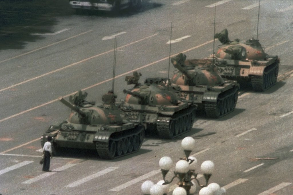 ". 3. TIANANMEN SQUARE <p>To mark 25th anniversary Wednesday, Chinese tanks made special effort to avoid crushing protesters. (unranked) <p><b><a href=\'http://www.twincities.com/breakingnews/ci_25895557/tens-thousands-join-hong-kong-tiananmen-rally\' target=""_blank\""> LINK </a></b> <p>    (AP Photo/Jeff Widener)"