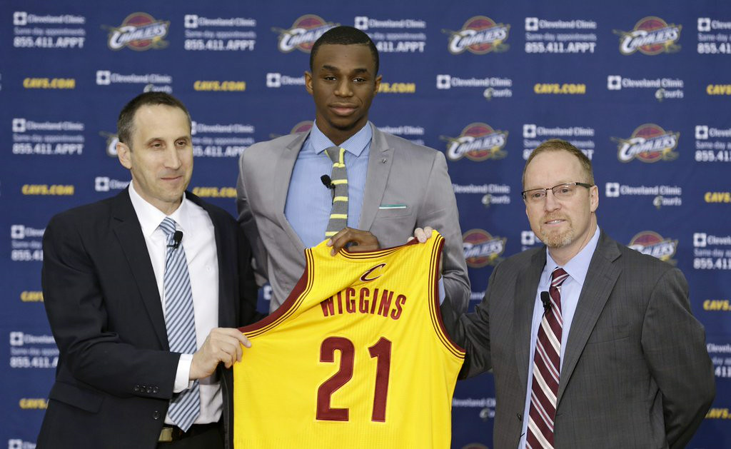 """. 10. (tie) ANDREW WIGGINS <p>Now wants to play for Wolves, like anyone in Cleveland gives a rat�s ass about his opinion. (1) </p><p><b><a href=\""""http://www.cbssports.com/nba/eye-on-basketball/24655491/bill-self-andrew-wiggins-said-he-wanted-trade-to-wolves\"""" target=\""""_blank\""""> LINK </a></b> </p><p>   (AP Photo/Tony Dejak)</p>"""