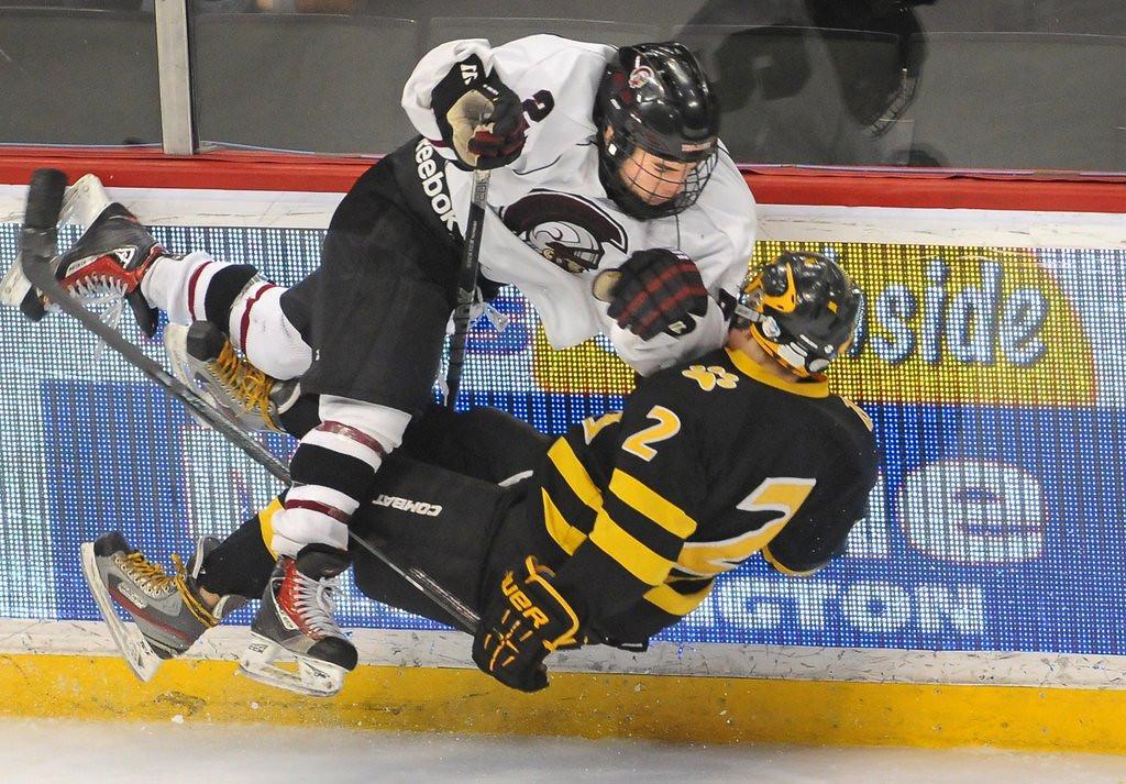 ". <p>7. (tie) MINNESOTA STATE BOYS HOCKEY TOURNAMENT <p>Still infinitely better than the seven-class football slog. (1) <p><b><a href=\'http://www.twincities.com/sports/ci_25273136/high-school-hockey-state-tournament-primer\' target=\""_blank\""> HUH?</a></b> <p>    (Pioneer Press: Jean Pieri)"
