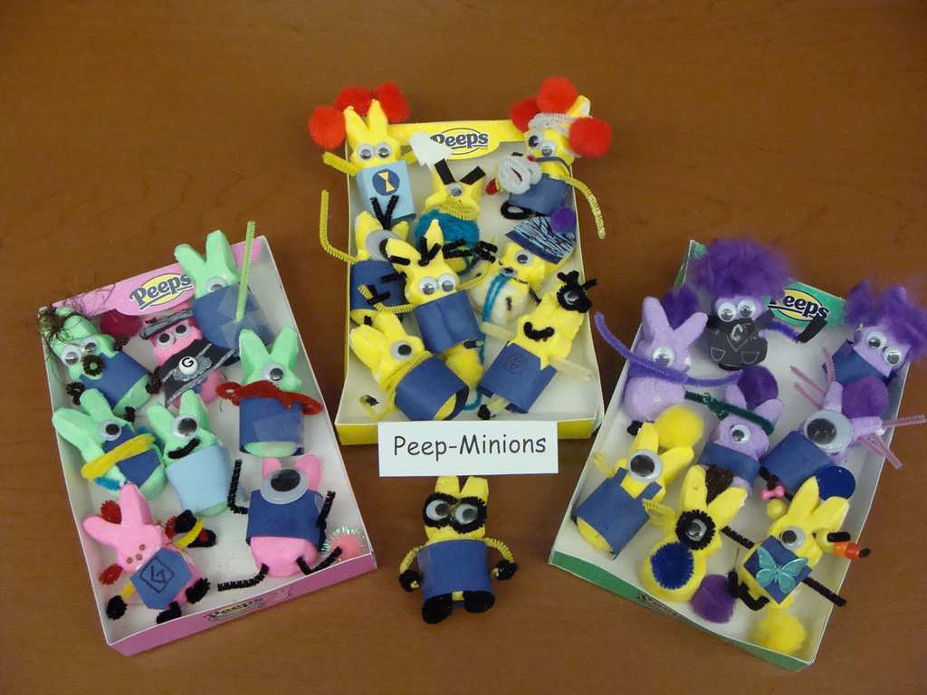 ". ""Peeps-Minions,\"" by fifth-graders from Elizabeth Erickson\'s class at Hillside Elementary in New Richmond, Wis."