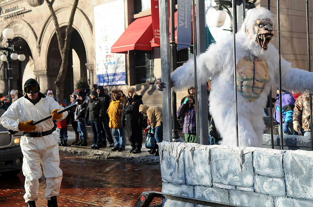 . Ramsey County Sheriff\'s Fright Farm Haunted House goes by the Landmark Center at the Winter Carnival Grande Day Parade in St. Paul, Saturday January 25, 2014.  (Pioneer Press: Jean Pieri)