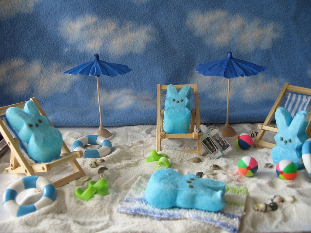 """. \""""Beach Bunnies,\"""" by Monica Fischer and Penny Ray, Little Canada"""