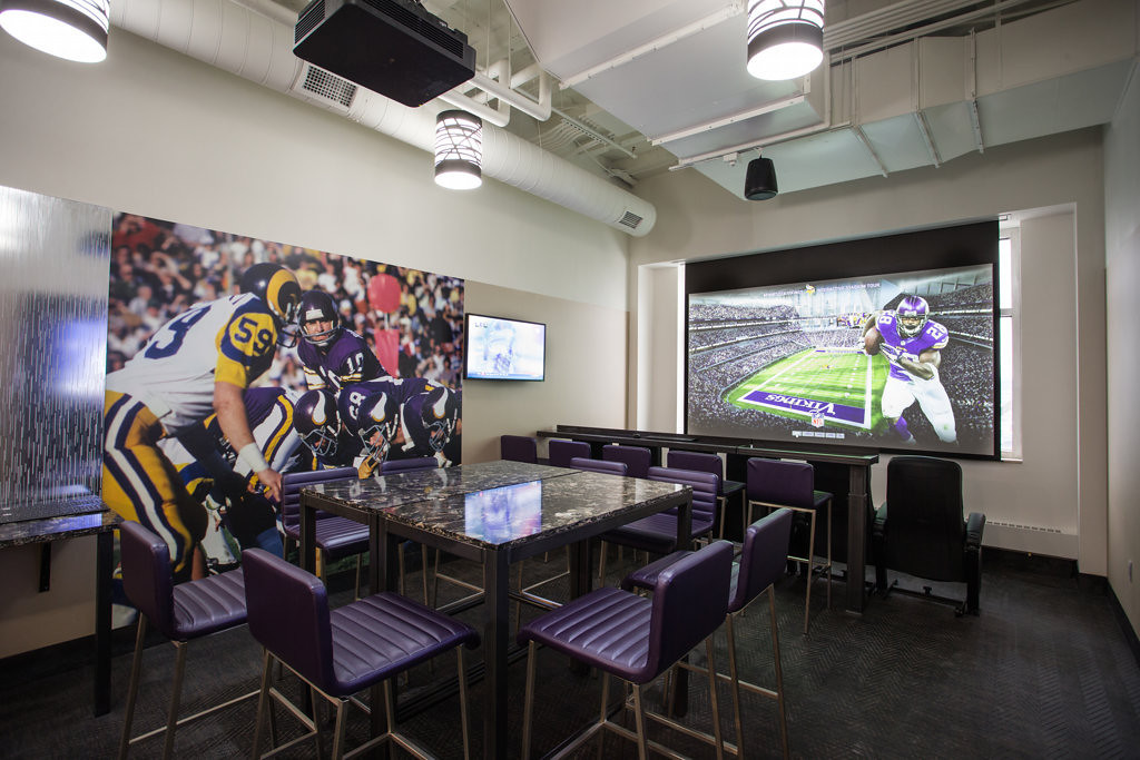 """. Minnesota Vikings season-ticket holders will get a chance this week to see firsthand what it will look like inside the new stadium, scheduled to open in 2016. As part of its effort to get current season-ticket holders to re-up in the new facility, the team is scheduling appointments starting later this week for fans to tour a 7,500-square-foot \""""preview center.\""""  (Photo courtesy of the  Minnesota Vikings)"""