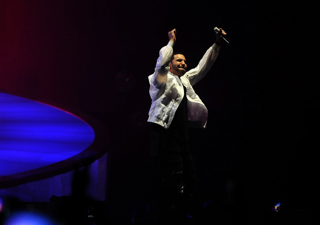 . Rapper Drake performs for thousands of fans at the Target Center on Sunday.  (Pioneer Press: Sherri LaRose-Chiglo)