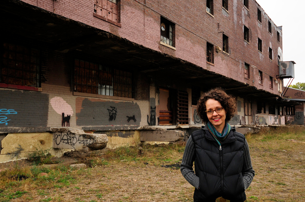""". Tracy Sides, the winner of the million dollar \""""Forever St. Paul Challenge,\"""" hopes to transform this abandoned warehouse in St. Paul\'s Bruce Vento Nature Sanctuary into an \""""urban oasis,\"""" a center to promote and handle locally produced food.   (Pioneer Press: Scott Takushi)"""