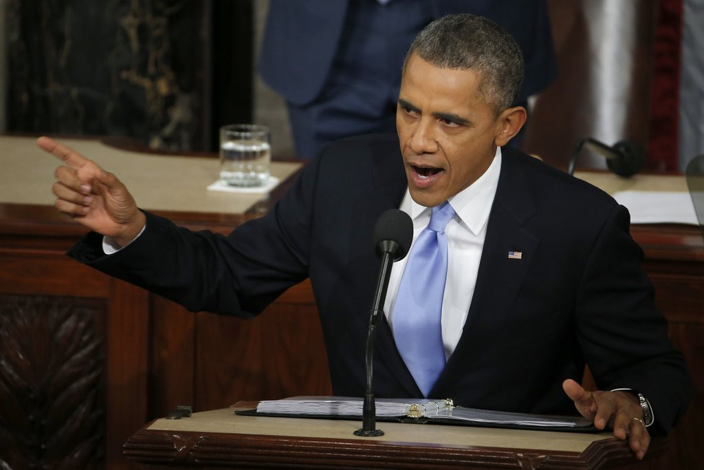 """. <p>7. STATE OF THE UNION <p>A seamless tapestry of fiction, more fiction, and the word �I.� (5) <p><b><a href=\'https://www.ijreview.com/2014/01/111537-seven-big-lies-obama-told-in-his-state-of-the-union-speech/\' target=\""""_blank\""""> HUH?</a></b> <p>    (AP Photo/Charles Dharapak)"""
