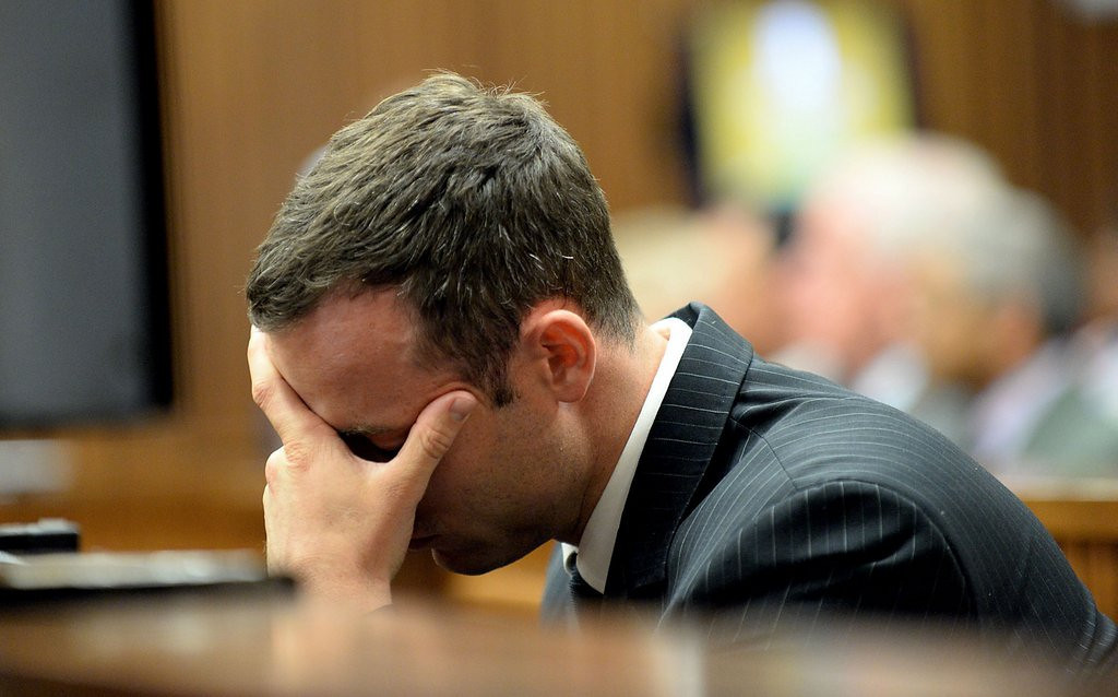 """. <p><b> �Blade Runner� Oscar Pistorius testified on Tuesday that, on the day she died, his slain girlfriend told him this for the first time � </b> <p> A. �I love you� <p> B. �I want to marry you� <p> C. �Please stop shooting me through the bathroom door� <p><b><a href=\'http://sports.yahoo.com/news/oscar-pistorius-trial-day-23--steenkamp-told-blade-runner--i-love-you--for-first-time-on-night-she-died-154200834.html\' target=\""""_blank\"""">HUH?</a></b> <p>   (AP Photo/Bongiwe Mchunu)"""