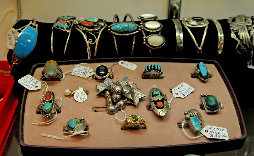 . Vintage Native American jewelry is for sale at Staples Mills Antiques. (Pioneer Press: Jean Pieri)