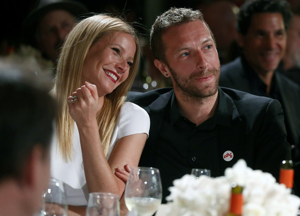 """. <p><b> Oscar winner Gwyneth Paltrow and Coldplay�s Chris Martin had tongues wagging when they announced, after 11 years of marriage, that they were � </b> <p> A. �Consciously uncoupling� <p> B. �Amicably divorcing� <p> C. �Randomly fornicating� <p><b><a href=\'http://pagesix.com/2014/03/28/gwyneth-paltrow-chris-martin-to-uncouple-under-same-roof/\' target=\""""_blank\"""">HUH?</a></b> <p>    (Colin Young-Wolff /Invision/AP)"""