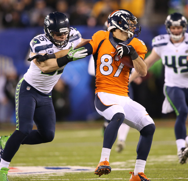 . <p><b>20. ERIC DECKER</b> <p>In retrospect, his connection to Minnesota made it IMPOSSIBLE for him to actually win a Super Bowl. <p>    (Lionel Hahn/Abaca Press/MCT)