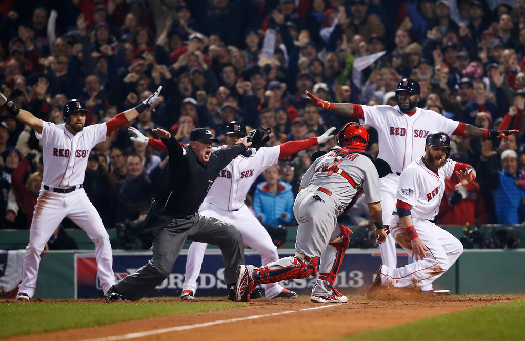 ". <p>5. ST. LOUIS CARDINALS <p>Just figured out that walking David Ortiz would have been a swell strategy. (unranked) <p><b><a href=\'http://www.twincities.com/sports/ci_24425088/2013-world-series-it-just-wasnt-cardinals-night\' target=""_blank\""> HUH?</a></b> <p>     (AP Photo/Elise Amendola)"