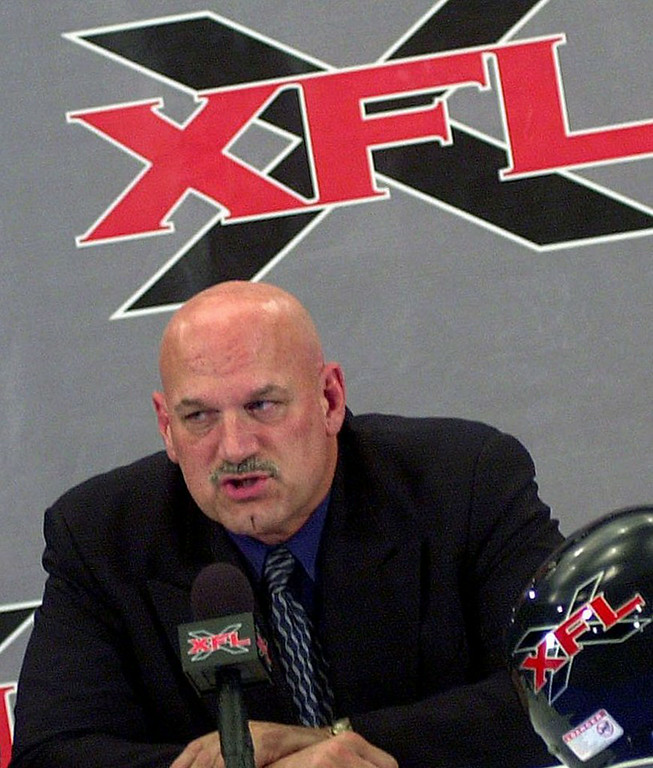 . <p>1:34 P.M.  </p><p>Loses $5 bet to fellow customer when he can�t recall what the letters XFL stood for. </p><p>    (AP Photo/Jim Mone)</p>