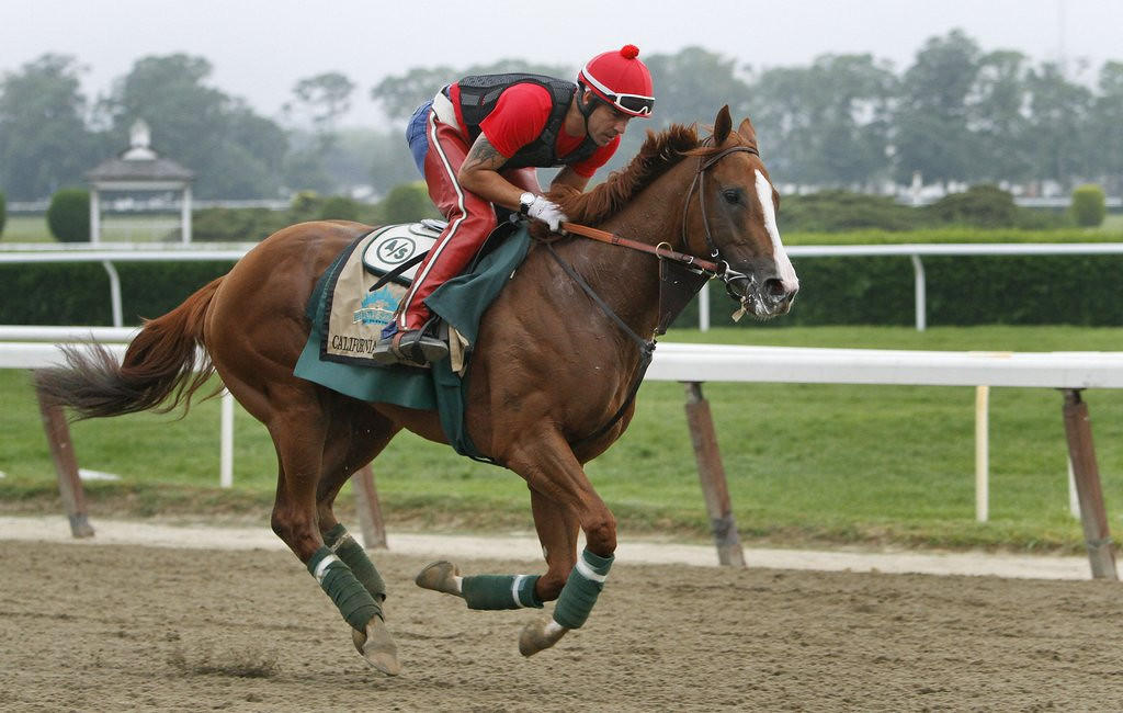 ". 10. (tie) CALIFORNIA CHROME <p>Deep down, couldn�t care less whether he wins the Triple Crown. (unranked) <p><b><a href=\'http://www.twincities.com/sports/ci_25895685/california-chrome-made-3-5-favorite-belmont\' target=""_blank\""> LINK </a></b> <p>    (AP Photo/Peter Morgan)"