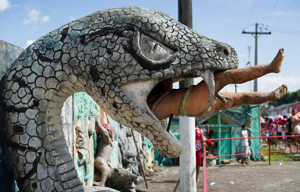 . <p>40. SNAKES <p>Don�t know about you, but we are sick of these mother******* snakes on this mother******* plane.  (Yasuyoshi Chiba/AFP/GettyImages)