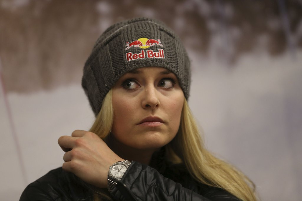 """. <p>7. LINDSEY VONN <p>Hired as Olympics analyst by NBC in the hope it MIGHT get Tiger to tune in. (unranked) <p><b><a href=\'http://www.hollywoodreporter.com/live-feed/lindsey-vonn-nbc-sports-olympics-674603\' target=\""""_blank\""""> HUH?</a></b> <p>  (AP Photo/Luca Bruno)"""