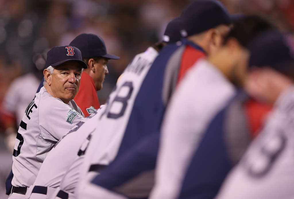 ". <p>10. (tie) BOBBY VALENTINE <p>Guess we know now why last year�s Red Sox stunk on ice. (unranked) <p><b><a href=\'http://nesn.com/2013/10/bobby-valentine-believes-he-could-have-also-led-red-sox-to-world-series-this-season/\' target=""_blank\""> HUH?</a></b> <p>    (Jeff Gross/Getty Images)"
