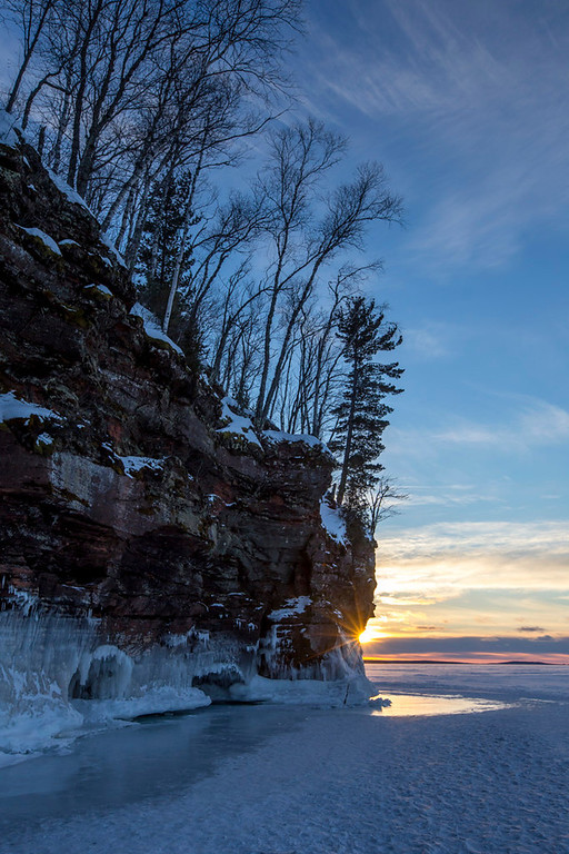 . The sun sets on Lake Superior\'s Apostle Islands National Lakeshore. (Pioneer Press: Andy Rathbun)