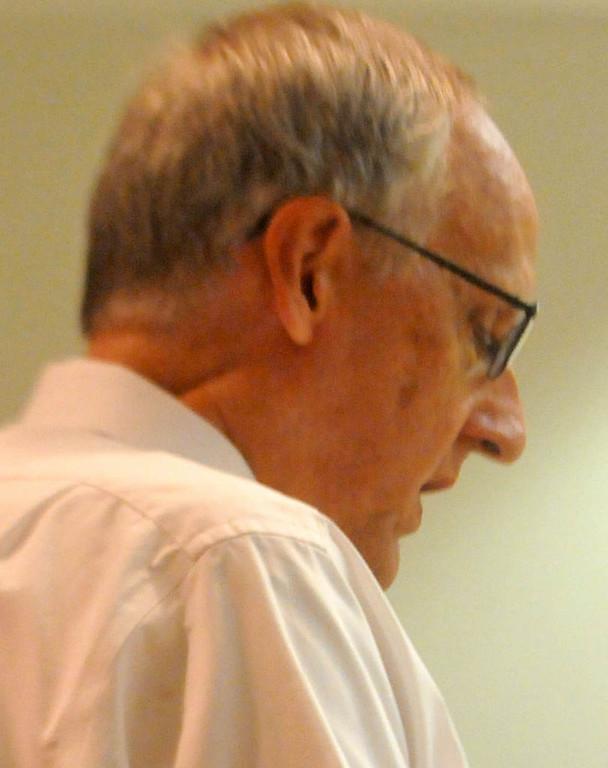 . Roger Schaffhausen speaks in his son\'s defense during the sentencing hearing. (Pioneer Press: John Doman)