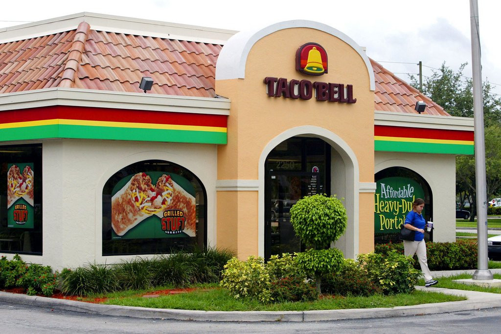 """. <p><b> Taco Bell has unveiled the newest flavor for its line of Doritos Locos Tacos � </b> <p> A. Spicy Chicken Cool Ranch <p> B. Chipotle Fajita <p> C. Mystery Meat Toilet Trot <p><b><a href=\'http://www.nydailynews.com/life-style/eats/taco-bell-debut-spicy-chicken-cool-ranch-doritos-locos-tacos-article-1.1756128\' target=\""""_blank\"""">HUH?</a></b> <p>    (Joe Raedle/Getty Images)"""