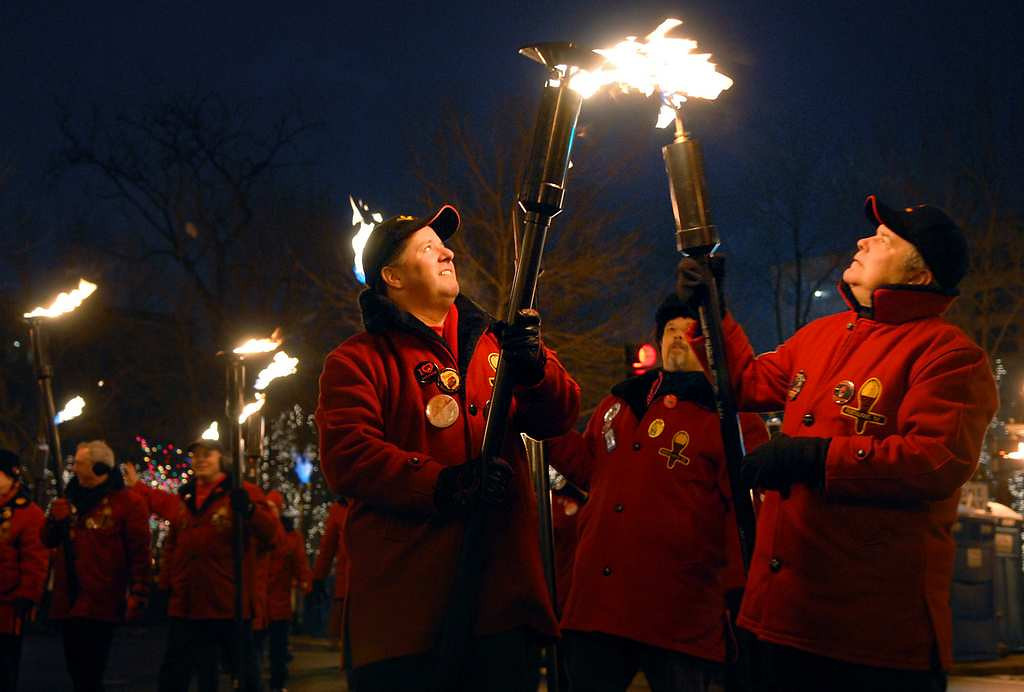 . The annual St. Paul Winter Carnival ends with the Torchlight Parade downtown. (Pioneer Press file)