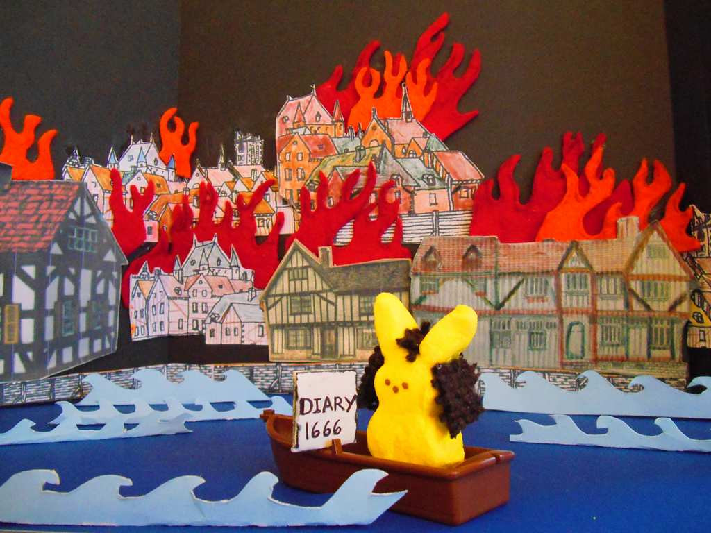 ". ""Great Fire of London, 1666,\"" by Chris Dopson"