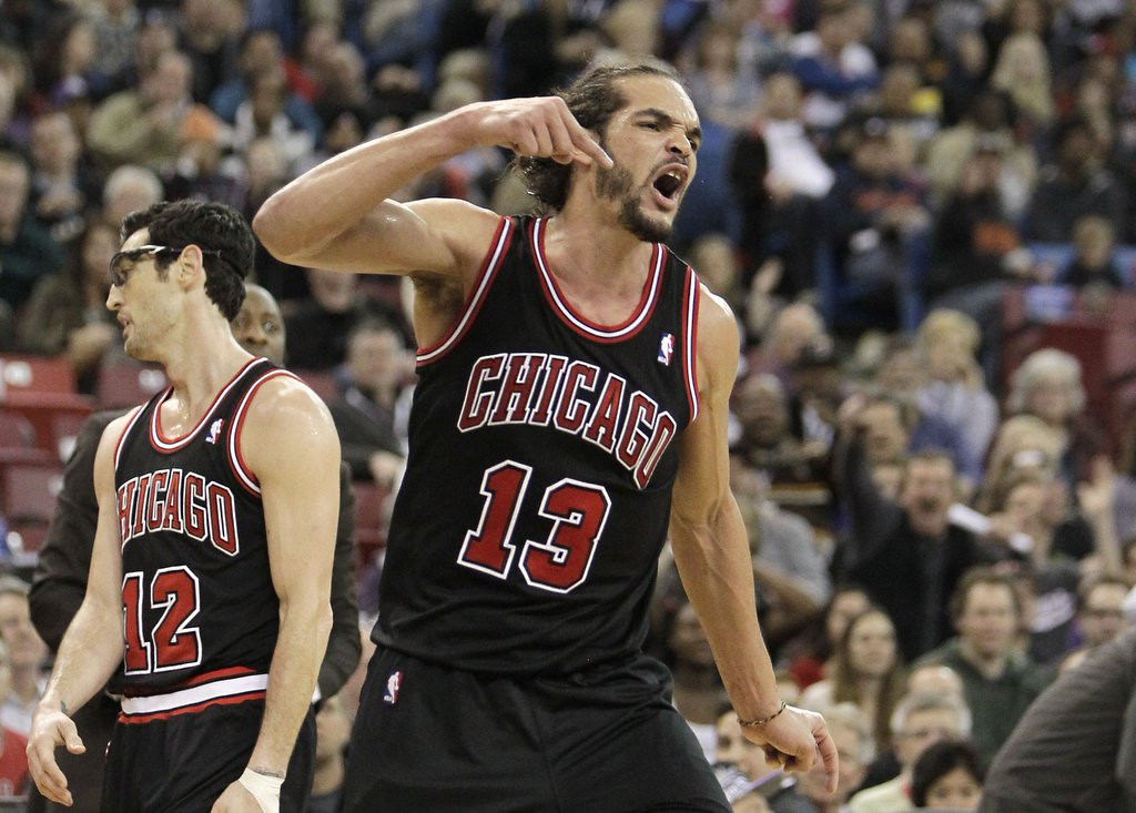 ". <p>5. JOAKIM NOAH <p>Fined $15,000 for latest rant, or roughly one dollar per F-bomb. (unranked) <p><b><a href=\'http://espn.go.com/chicago/nba/story/_/id/10404016/joakim-noah-chicago-bulls-fined-15k-tirade-directed-refs\' target=""_blank\""> HUH?</a></b> <p>   (AP Photo/Rich Pedroncelli)"