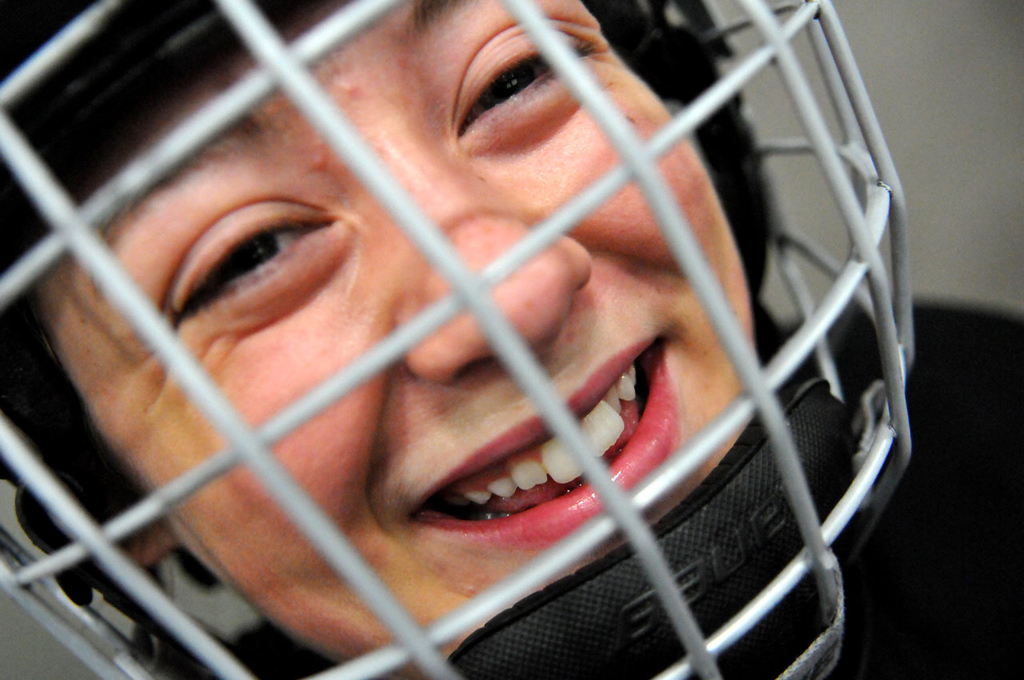 . Hockey-loving eighth-grader Madison Sprague from Vacaville, Calif., via Apple Valley plans to attend Northern Educate Hockey Academy full time next year. (Pioneer Press: John Doman)
