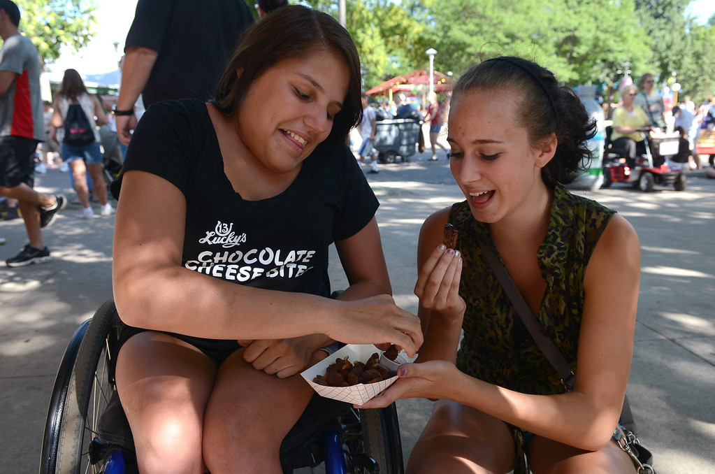 . Cocoa Cheese Bites: �I like them because they�re cheese but they�re chocolate, so it�s kind of like a twist on things,� said Kaylee Rice, 16, of Shakopee. (Pioneer Press: C.J. Sinner)