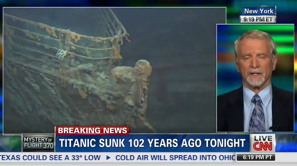""". <p>10. (tie) CNN  <p>Journalism junkies interrupt 24-7 coverage of missing plane to report breaking news. From 1912. (previous ranking: unranked) <p><b><a href=\'http://www.washingtonpost.com/blogs/compost/wp/2014/04/16/the-titanic-sank-and-cnn-is-on-it/\' target=\""""_blank\""""> HUH?</a></b> <p>   (Photo from YouTube)"""