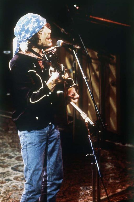 . American folk singer Bob Dylan performs during his Rolling Thunder tour, 1976. (AP Photo)
