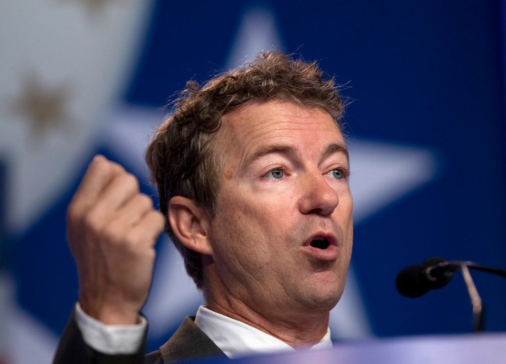 """. <p><b> Tea Party favorite Rand Paul won the Conservative Political Action Conference straw poll over the weekend, meaning he could be a formidable presidential contender in � </b> <p> A. 2016 <p> B. 2020 <p> C. 1848 <p><b><a href=\' http://www.cnn.com/2014/03/08/politics/cpac-straw-poll/\' target=\""""_blank\"""">HUH?</a></b> <p>    (AP Photo/Jose Luis Magana, File)"""