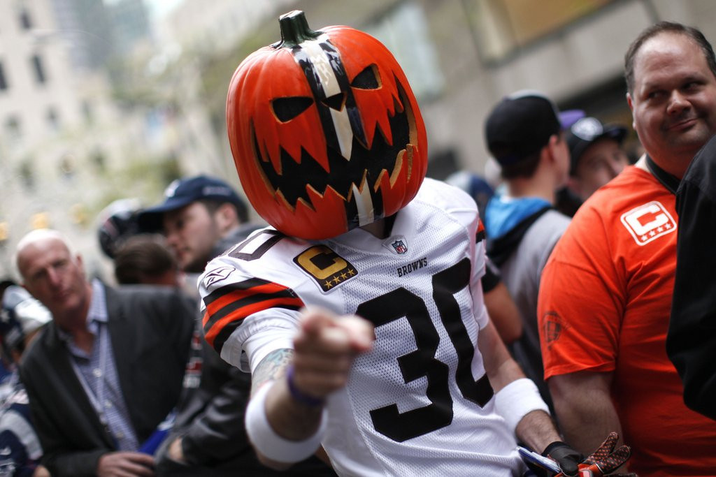 . <b>9. CLEVELAND BROWNS </b> <p>Draft day excitement always ends at midnight, when they turn back into ... the Browns. <p>   (AP Photo/Jason DeCrow)