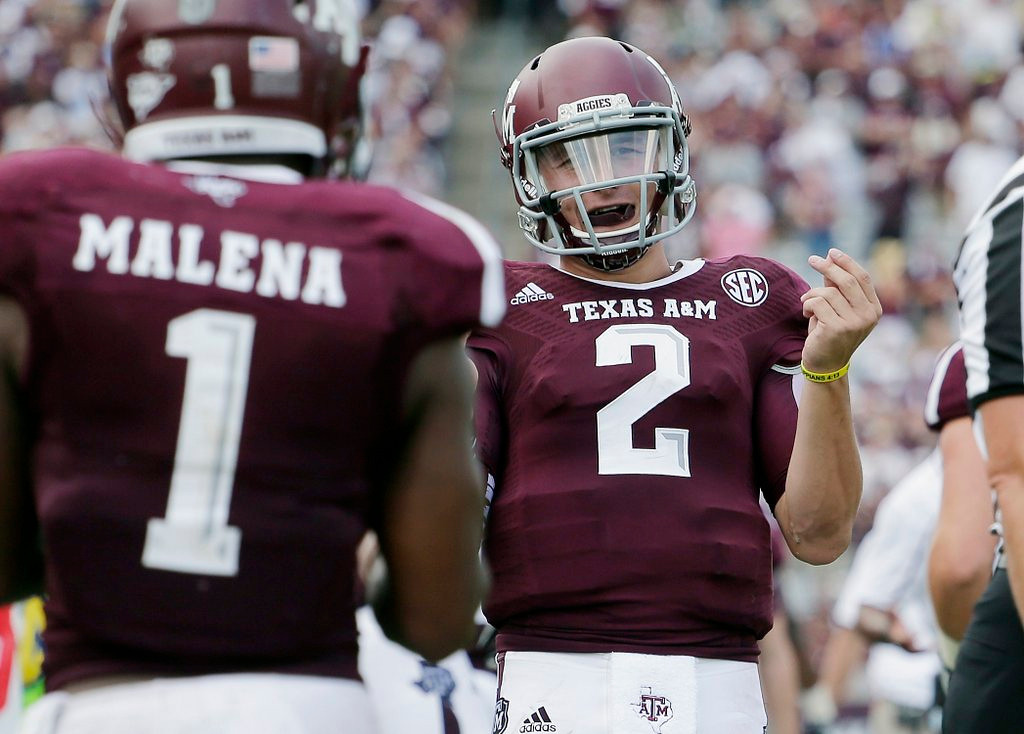 """. <p>10. (tie) JOHNNY MANZIEL <p>The single least surprising draft decision since Muhammad Ali decided to skip his. (previous ranking: unranked) <p><b><a href=\'http://www.cbssports.com/nfl/draft/nfl-draft-scout/24402387/nfl-draft-ams-manziel-set-for-nfl-decision\' target=\""""_blank\""""> HUH?</a></b> <p>    (AP Photo/Eric Gay)"""
