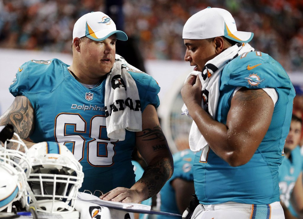 ". <p>8. RICHIE INCOGNITO & JONATHAN MARTIN <p>We�re guessing the bully gets another job before the wimp does. (3) <p><b><a href=\' http://www.twincities.com/sports/ci_25161928/bullygate-dolphins-players-sided-bad-guys\' target=""_blank\""> HUH?</a></b> <p>    (AP Photo/Wilfredo Lee, File)"