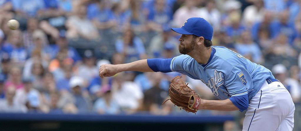 . Kansas City Royals relief pitcher Louis Coleman (31) throws in the fifth inning. (John Sleezer/Kansas City Star/MCT)