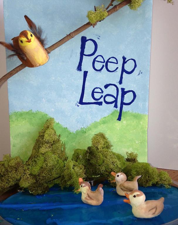 """. \""""Peep Leap,\"""" by Elizabeth Verdick, Woodbury"""