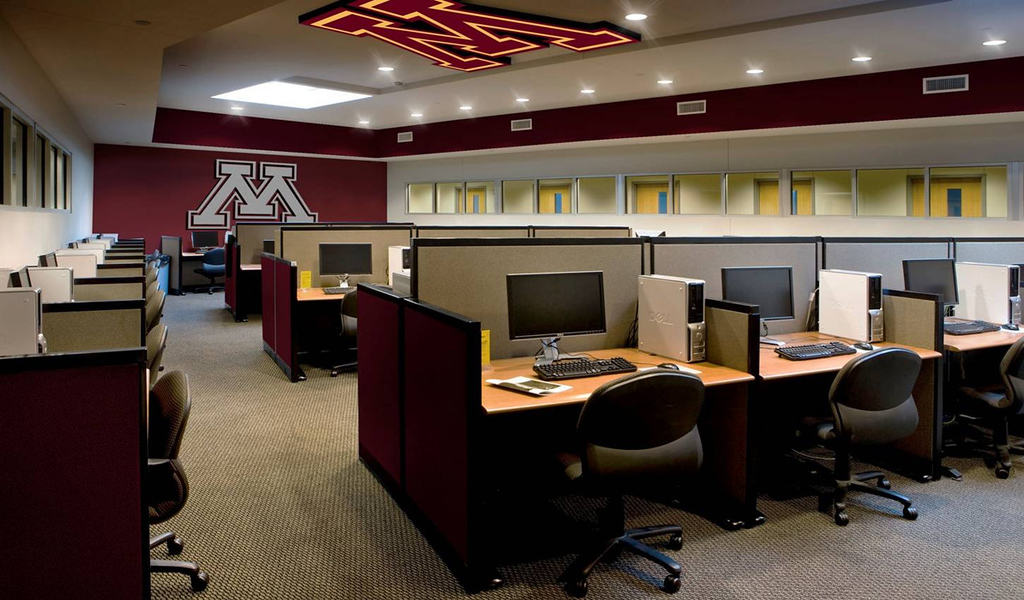 . Phase One of the university\'s facilities assessment plan includes an updated Academic Center, including larger computer labs, tutoring rooms, office space and private study areas. (Rendering courtesy of the University of Minnesota)