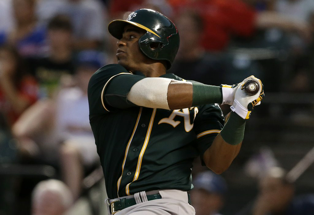 """. 5. YOENIS CESPEDES <p>We�re guessing there�s something Billy Beane knows that the Red Sox don�t know. (unranked) </p><p><b><a href=\""""http://www.twincities.com/sports/ci_26250455/ap-source-acquire-lester-gomes-cespedes\"""" target=\""""_blank\""""> LINK </a></b> </p><p>   (AP Photo/Tony Gutierrez)</p>"""