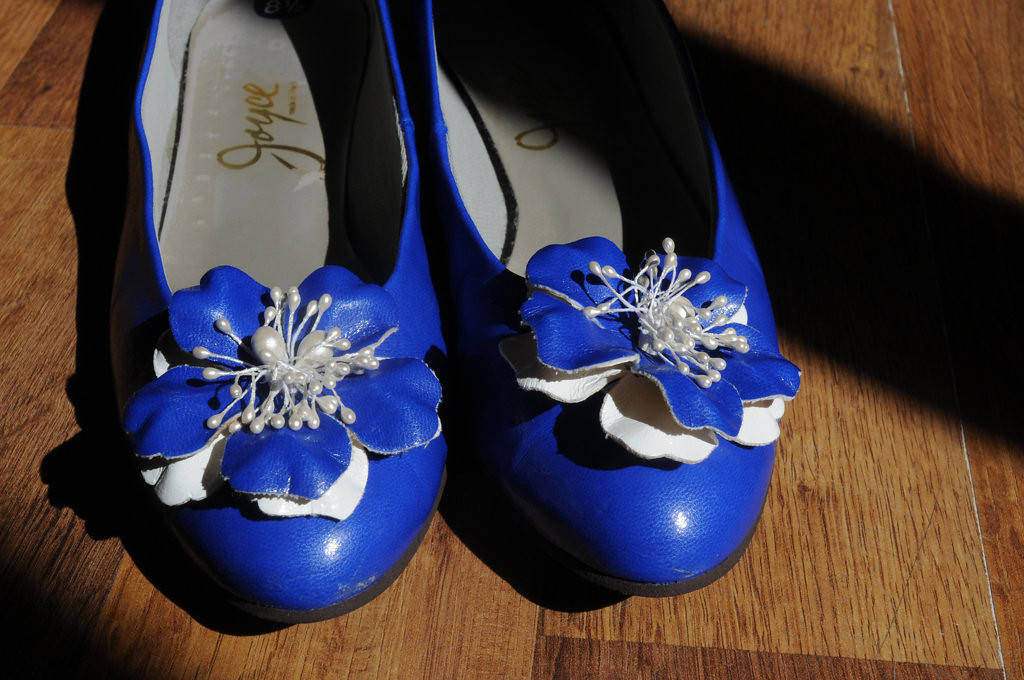 . Joyce Blue leather flats, size 8 1/2 on sale for $20.00 at Everyday People at 1599 Selby Ave in St. Paul\'s Merriam Park. (Pioneer Press: Ginger Pinson)